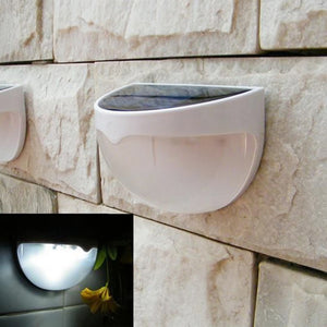 LED Power Panel Solar lights lampada solar Sensor Outdoor Fence Garden Pathway Wall Lamp Lighting 6 Led Waterproof Lamp Roof