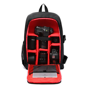 "Multi-functional Waterproof w/ Rain Cover 15.6"" laptop Video Case Digital DSLR Photo Padded Backpack Camera Soft Bag for Photo"