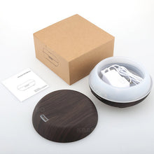 200ml Air Humidifier Oil DiffusersWood Grain Ultrasonic Humidifier for Office Home Bedroom Living Room