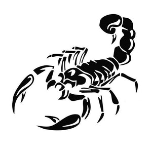 28cm Car Window Sticker Auto Warning Sticker Styling Vinyl Decal Reflective 3D Scorpion Strong Adhesion Waterproof Sunproof