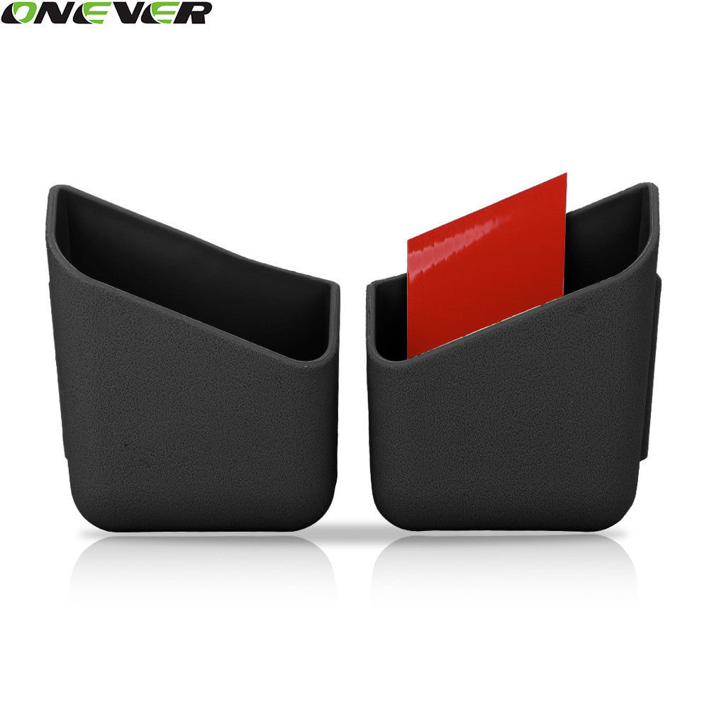 2Pcs Car Auto Truck Pillar Pocket Holder Box Storage Bag With 3M Sticker For Cigarette Cellphone Glasses Car Styling Accessories