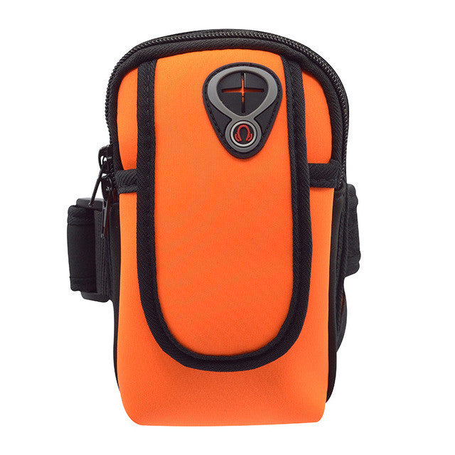 Sport Running Pouch 5.5 inch Running Wrist Phone Bag Arm Bag Outdoor Waterproof  Hand Bag for Camping Hiking