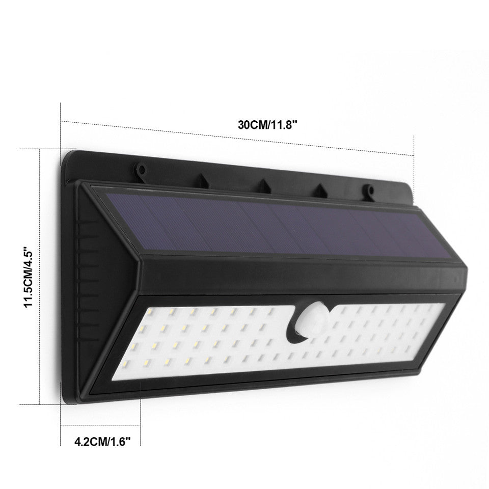 Waterproof 62 LED Solar Light 2835 SMD White Solar Power Outdoor Garden Light PIR Motion Sensor Pathway Wall Lamp 5.5V