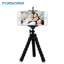 FORNORM Mini Flexible Portable Octopus Tripod With Phone Holder Bracket Stand Tripod Kit For iPhone Cellphone DSLR Camera
