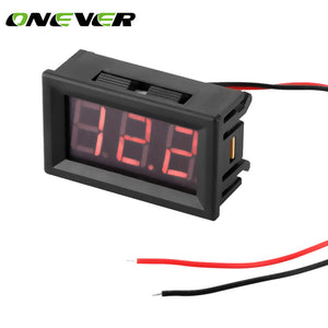 Mini Car Digital Voltmeter Detector 0.56 Red LED Display Panel Voltage Meter Volt Gauge DC 4.5-30V For 6V 12V Electromobile Car