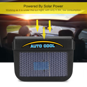 Universal Solar Powered Auto Car Window Cooler 0.3W Ventilation Fan Air Vent Radiator with Rubber Strip