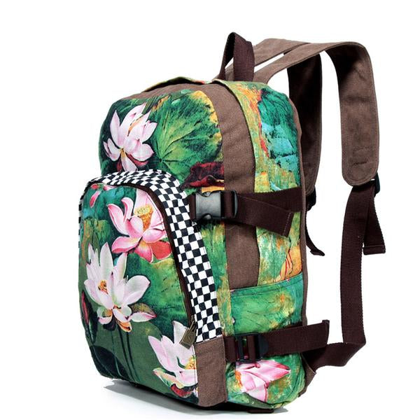 KarmaShine- Backpack-Lotus Flower-Canvas-2 colors