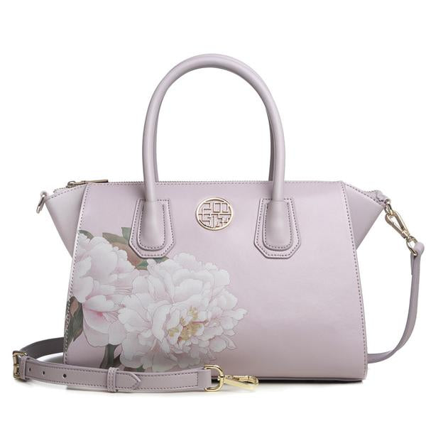 KarmaShine- Handbag-Lotus Flower-Leather-Shoulder Bag