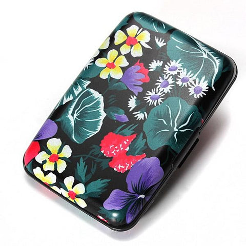 KarmaShine- Wallet-Lotus Flower-Aluminum Business ID Credit Card Case
