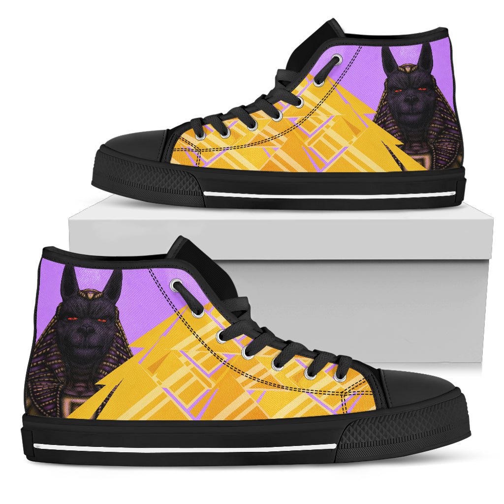 KarmaKickz-Anubis-Nightshade Series -Men's High Top Shoes - KarmaCraze