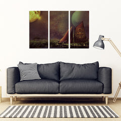 KarmaStuff- Ankh-3 Piece Canvas Wall Art