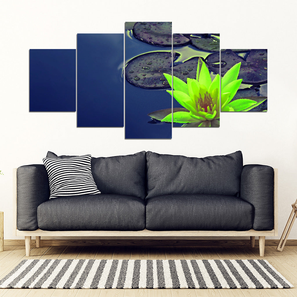 KarmaStuff- Lotus Flower-5 Piece Canvas Wall Art