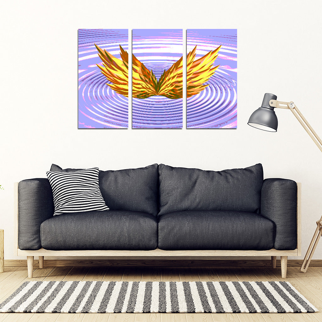 KarmaStuff- Isis Goddess-3 Piece Canvas Wall Art