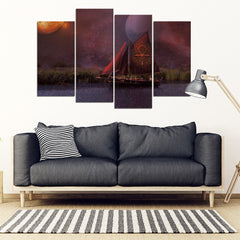 KarmaStuff- Ankh-4 Piece Canvas Wall Art