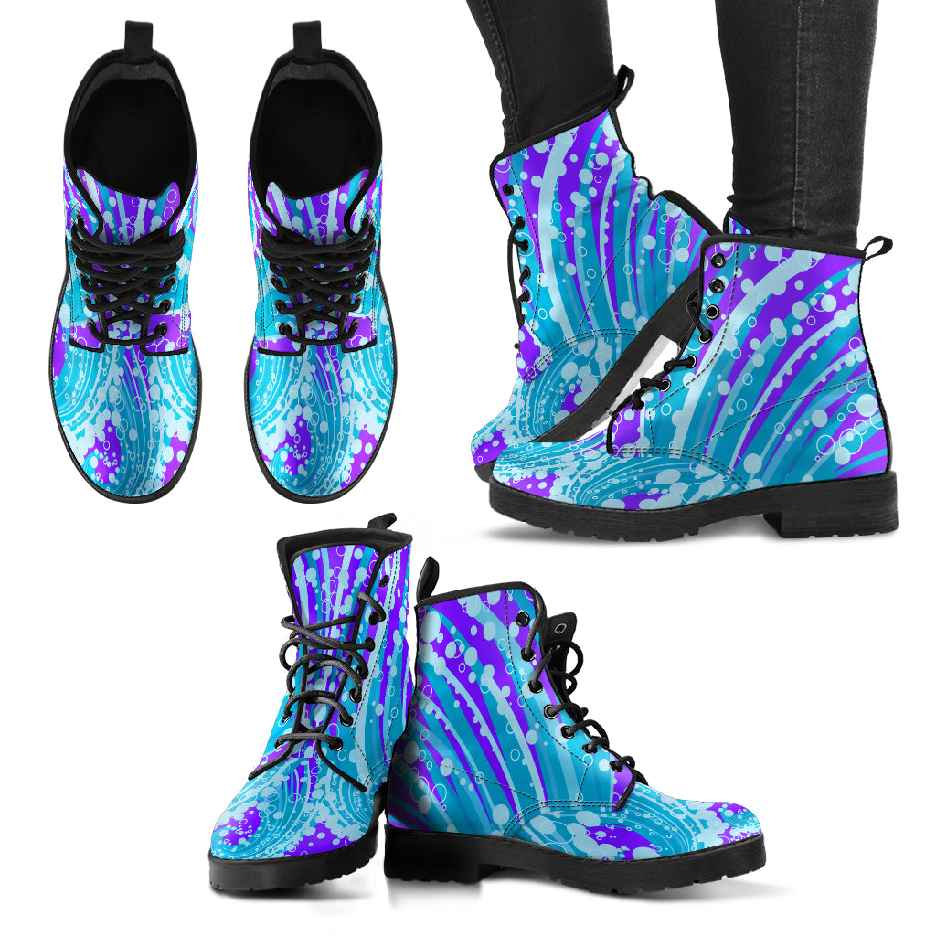 KarmaKickz-Ouroboros-Daywalker Series -Women's Leather Boots - KarmaCraze