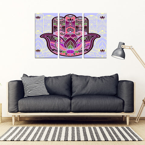 KarmaStuff- Hamsa-3 Piece Canvas Wall Art