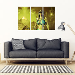 KarmaStuff- Anubis-3 Piece Canvas Wall Art