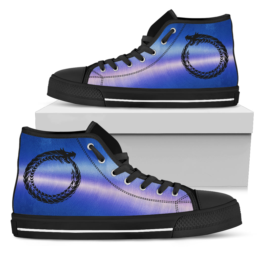 KarmaKickz-Ouroboros-Nightshade Series -Men's High Top Shoes - KarmaCraze
