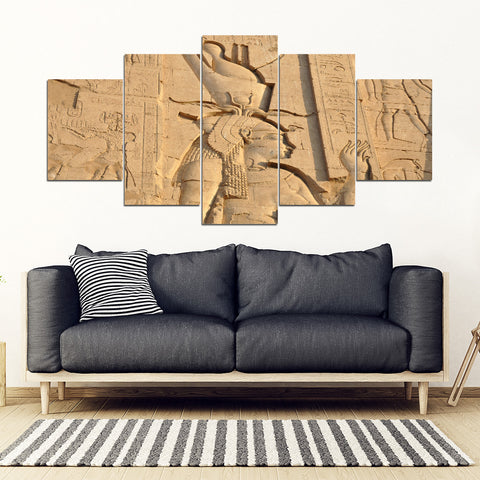 KarmaStuff- Isis Goddess-5 Piece Canvas Wall Art