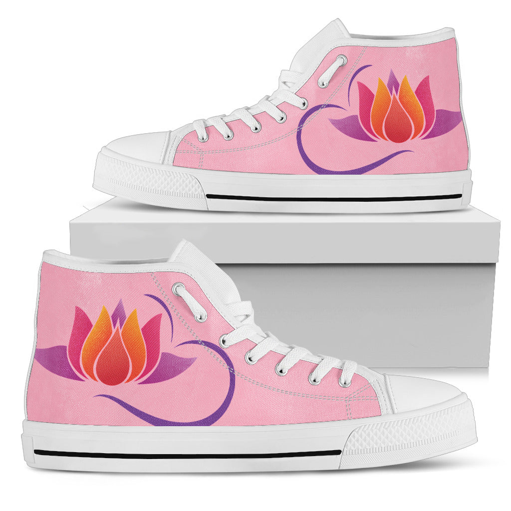 KarmaKickz-Women's High Top Shoes-Lotus Flower-Daywalker Series