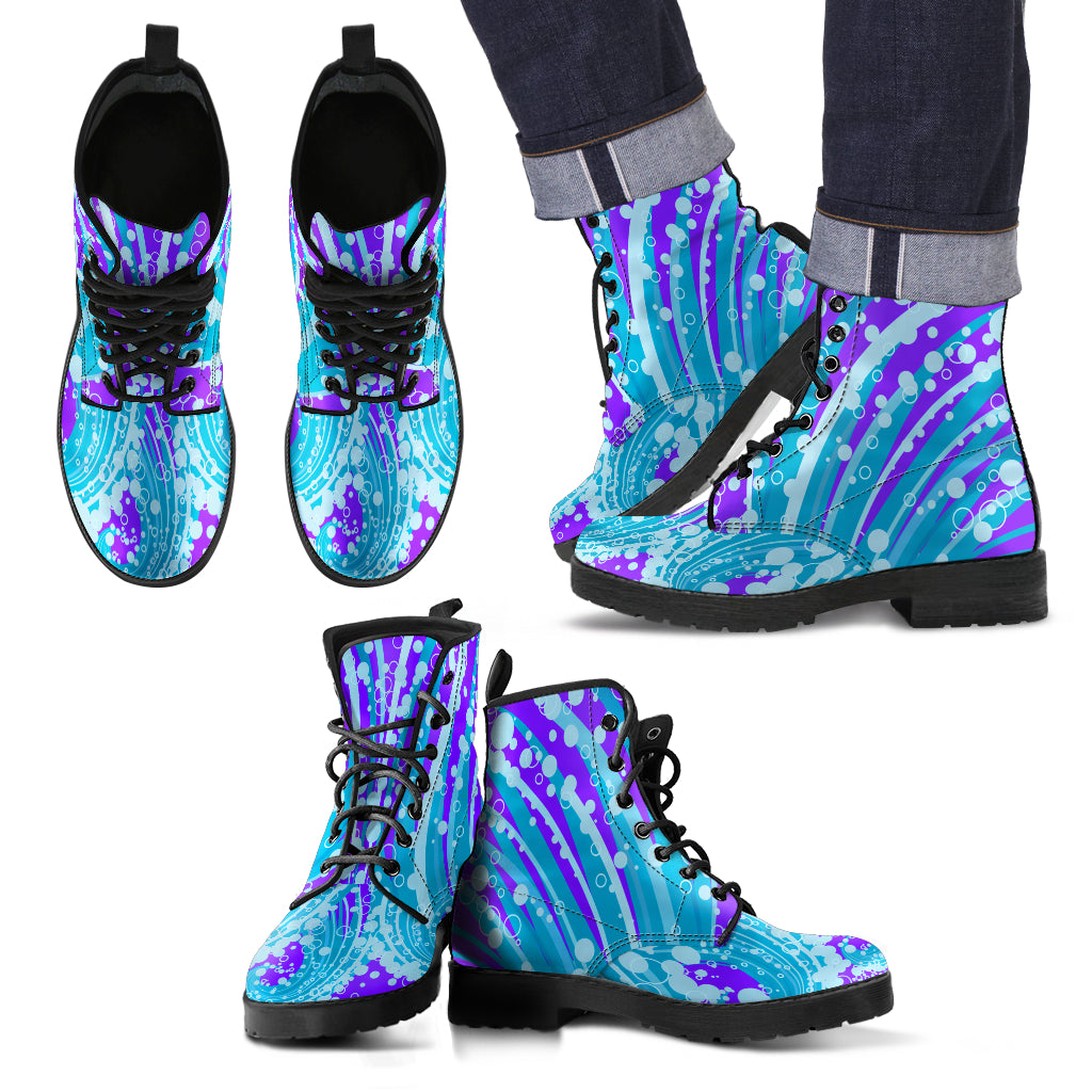 KarmaKickz-Ouroboros-Daywalker Series -Men's Leather Boots - KarmaCraze