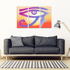KarmaStuff- Eye of Horus-3 Piece Canvas Wall Art