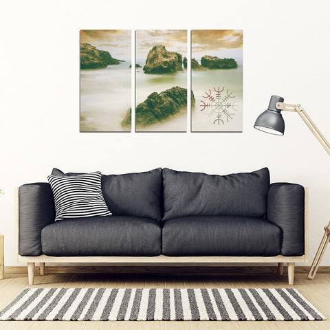 KarmaStuff- Helm of Awe-3 Piece Canvas Wall Art