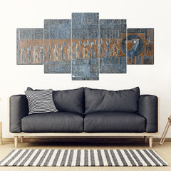 KarmaStuff- Eye of Horus-5 Piece Canvas Wall Art