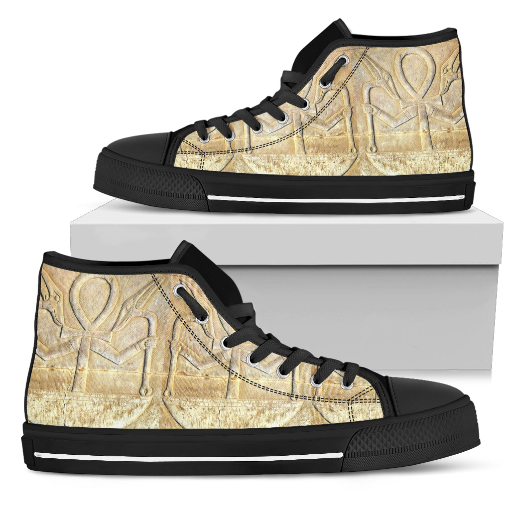 KarmaKickz-Ankh-Nightshade Series -Men's High Top Shoes - KarmaCraze