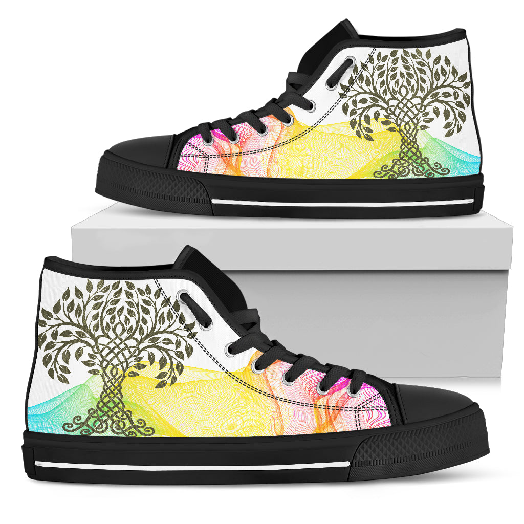 KarmaKickz-Tree of Life-Nightshade Series -Women's High Top Shoes - KarmaCraze