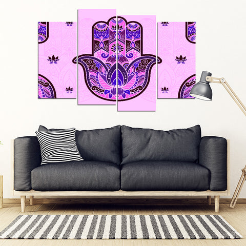 KarmaStuff- Hamsa-4 Piece Canvas Wall Art