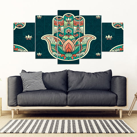 KarmaStuff- Hamsa-5 Piece Canvas Wall Art