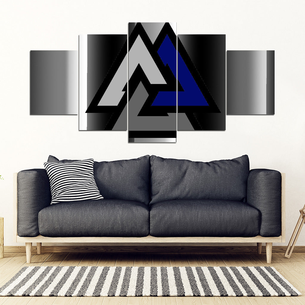 KarmaStuff- Valknut-5 Piece Canvas Wall Art
