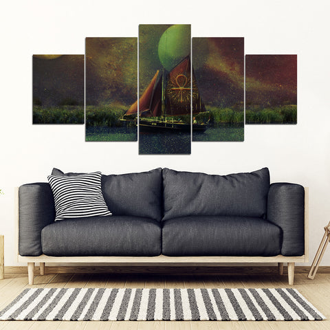 KarmaStuff- Ankh-5 Piece Canvas Wall Art