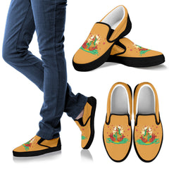 KarmaKickz-Women's Slip-ons-Lotus Flower-Nightshade Series