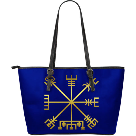 KarmaShine-Vegvisir-Large Leather Tote