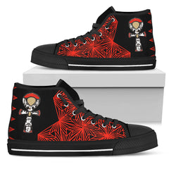 KarmaKickz-Ankh-Nightshade Series -Women's High Top Shoes - KarmaCraze