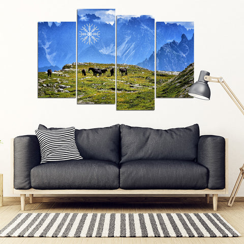 KarmaStuff- Helm of Awe-4 Piece Canvas Wall Art
