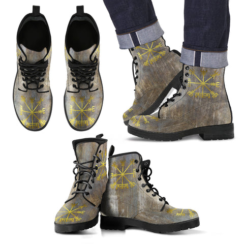 KarmaKickz-Men's Leather Boots-Vegvisir-Nightshade Series