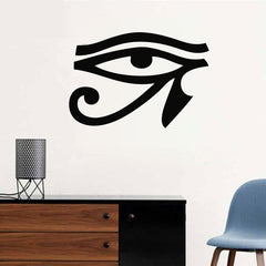 Home Wall Sticker-Eye of Horus-Black PVC-Removable-Home Decor-15 Colors-3 Sizes - KarmaCraze