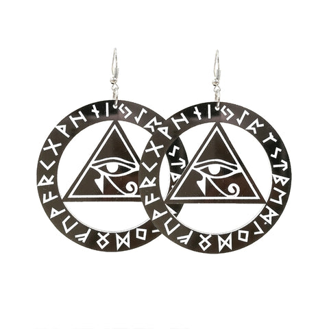 Earrings-Eye of Horus-Acrylic - KarmaCraze
