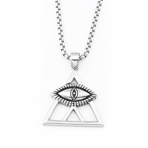 Necklace-Eye of Horus-Pendant-Silver Color - KarmaCraze