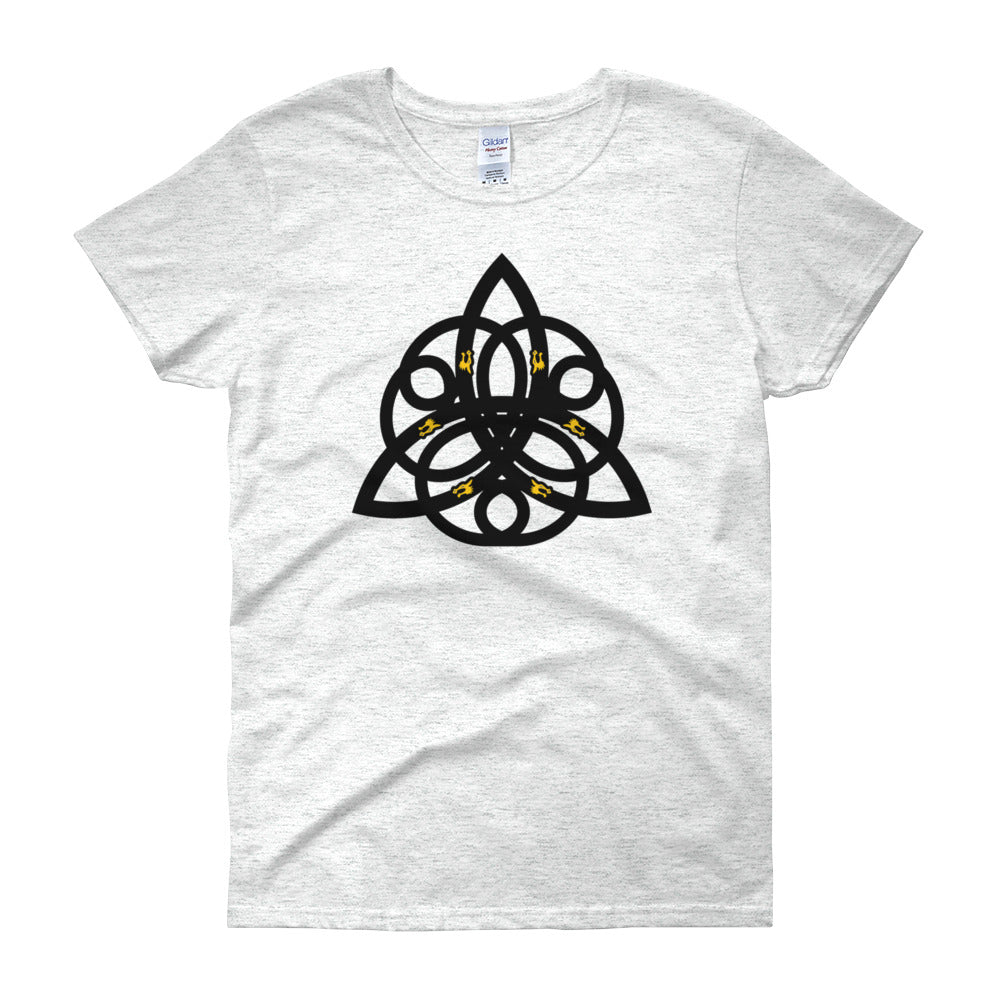KarmaGear-T-Shirt-Triquetra-Cotton-O-Neck-Short Sleeve-For Women