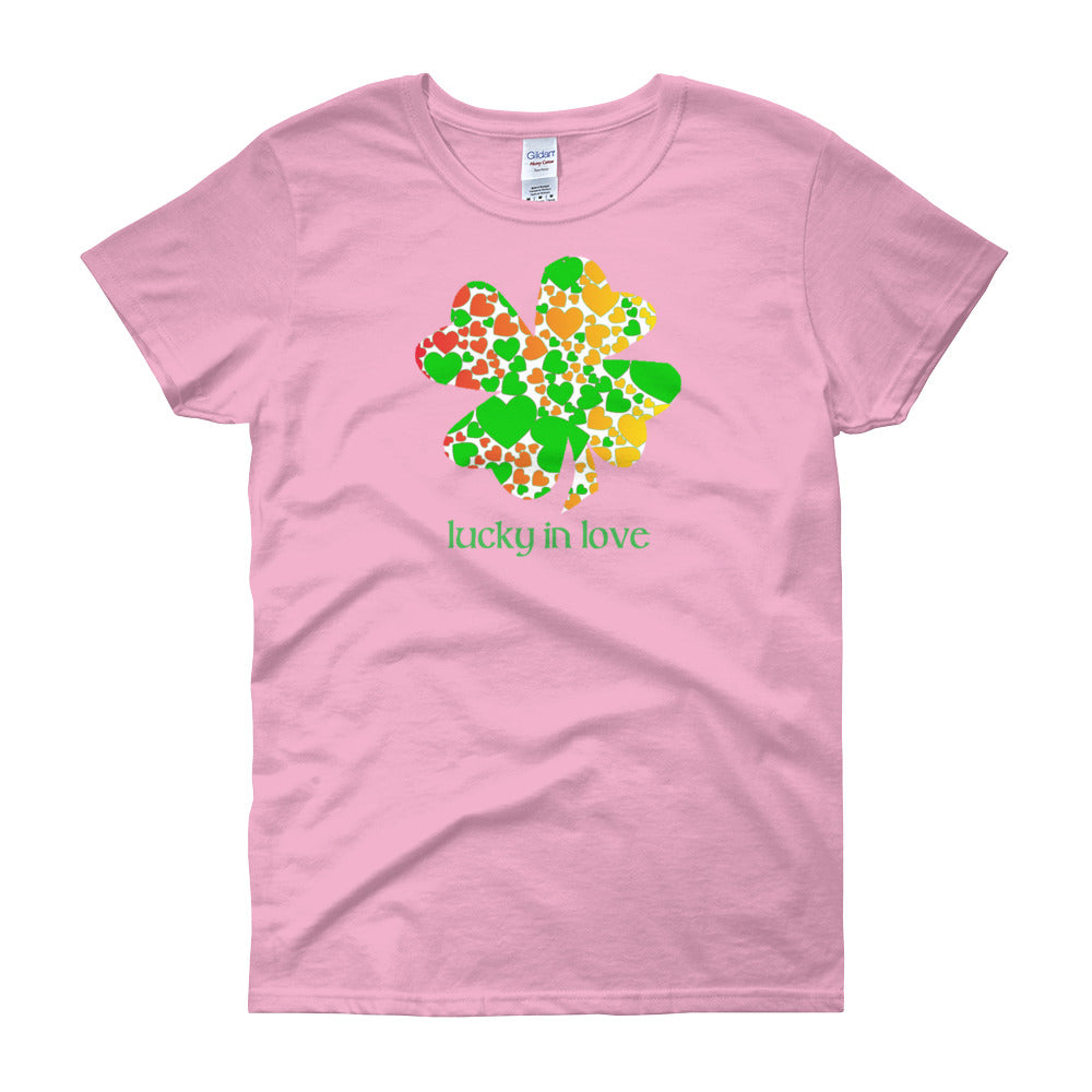KarmaGear-T-Shirt-Lucky Clover-Cotton-O-Neck-Short Sleeve-For Women