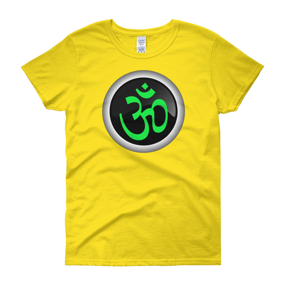 KarmaGear-T-Shirt-Om-Cotton-O-Neck-Short Sleeve-For Women