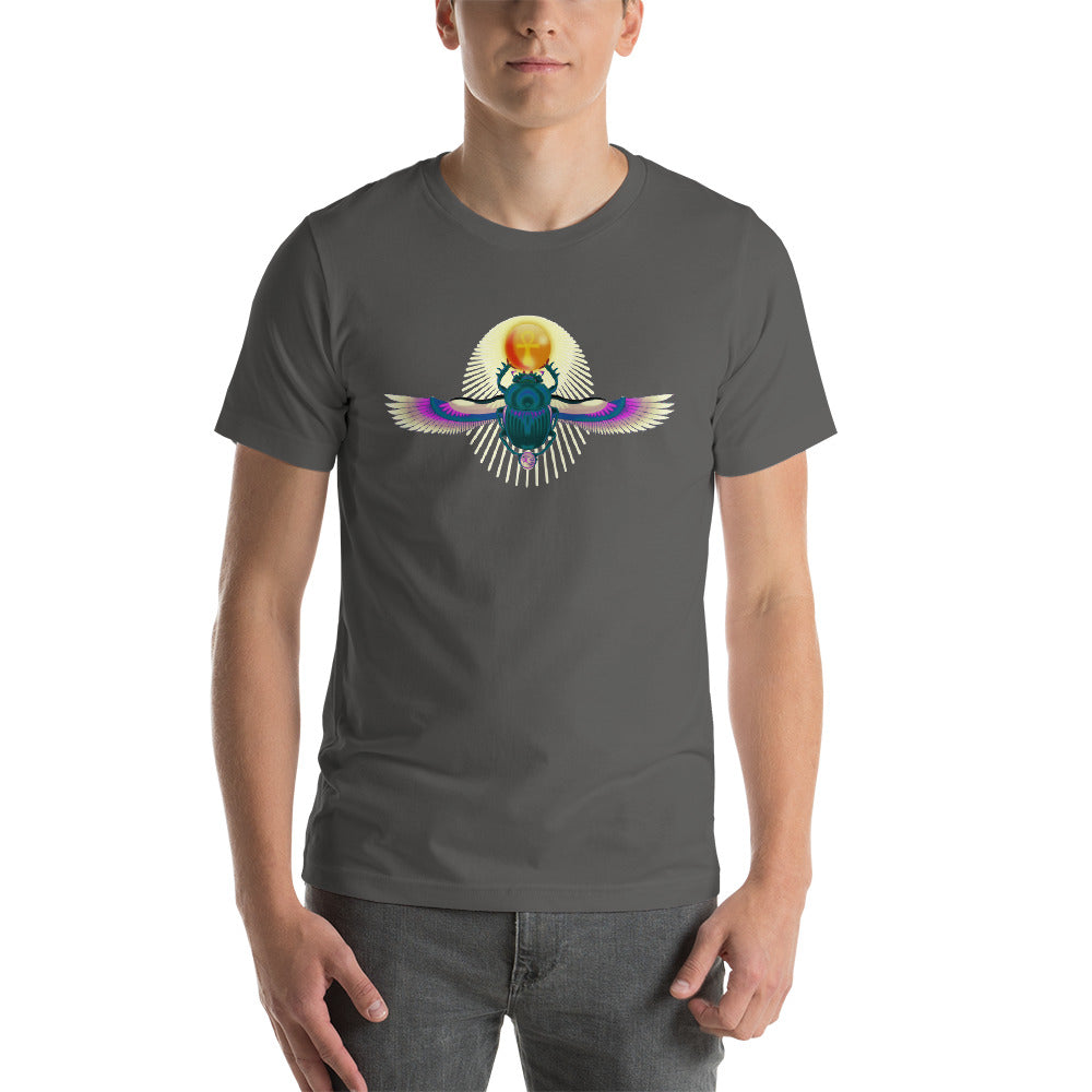 KarmaGear-T-Shirt-Scarab-Ankh-Eye of Horus-Cotton-O-Neck-Short Sleeve -For Men