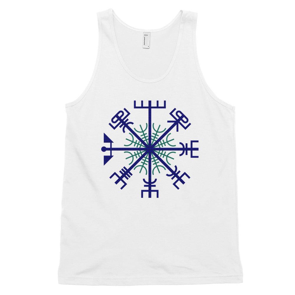KarmaGear-T-Shirt Tank Top-Vegvisir-Helm of Awe-Cotton-For Men