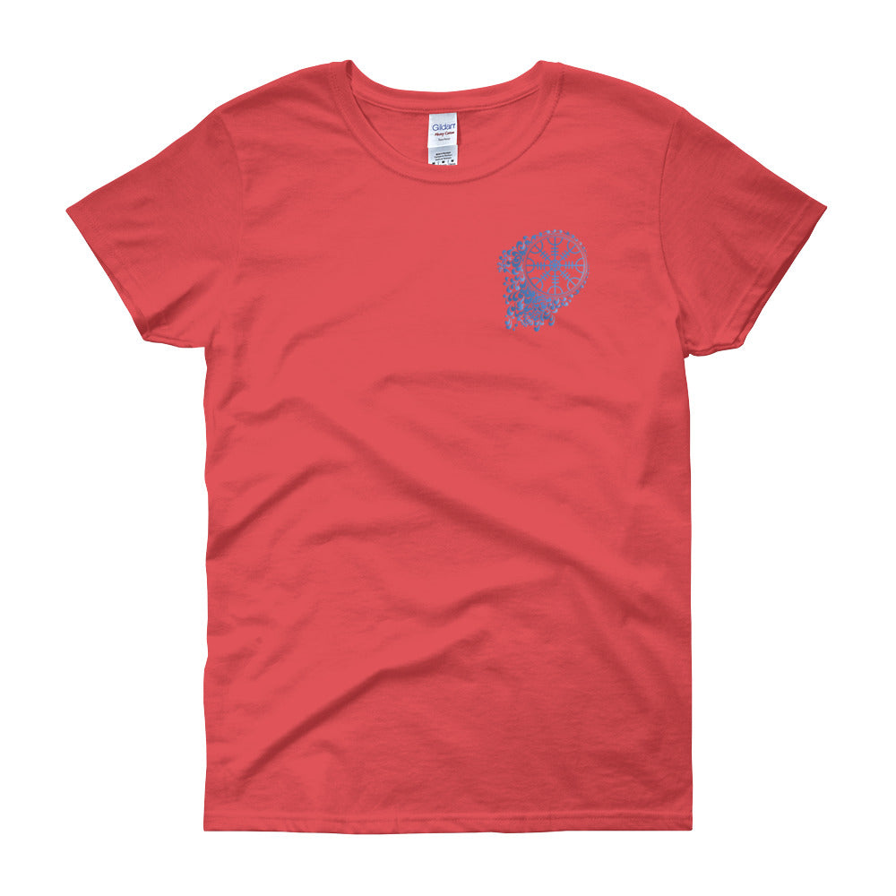 KarmaGear-T-Shirt-Helm of Awe-Cotton-O-Neck-Short Sleeve-For Women