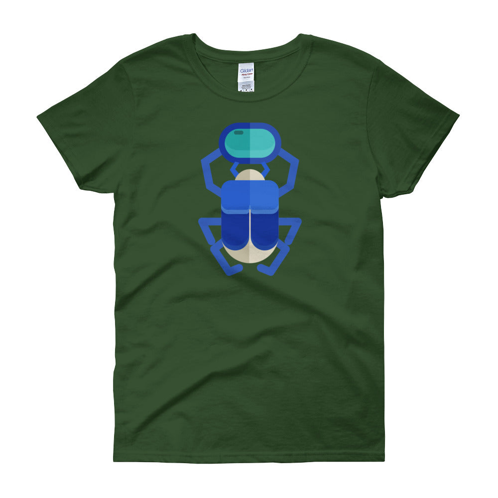 KarmaGear-T-Shirt-Scarab-Cotton-O-Neck-Short Sleeve -For Women