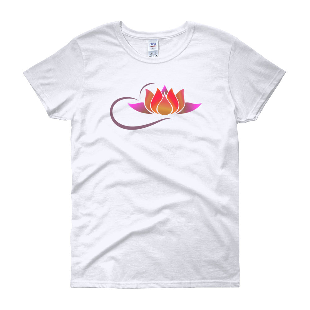 KarmaGear-T-Shirt-Lotus Flower-Cotton-O-Neck-Short Sleeve-For Women